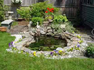 Feel free landscaping around elevated decks for Landscaping around a small pond